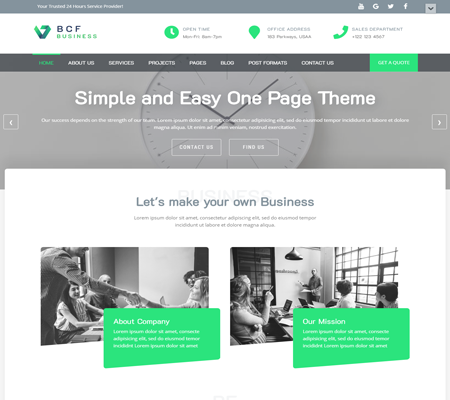 Business Consultant Finder Free Theme