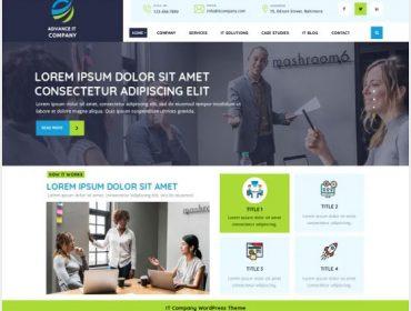 Advance IT Company WordPress Free Themes