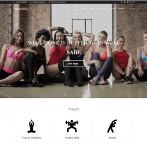 Aerobics Child Theme Free WordPress For Business