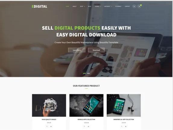 EDigital Multipurpose WordPress Theme
