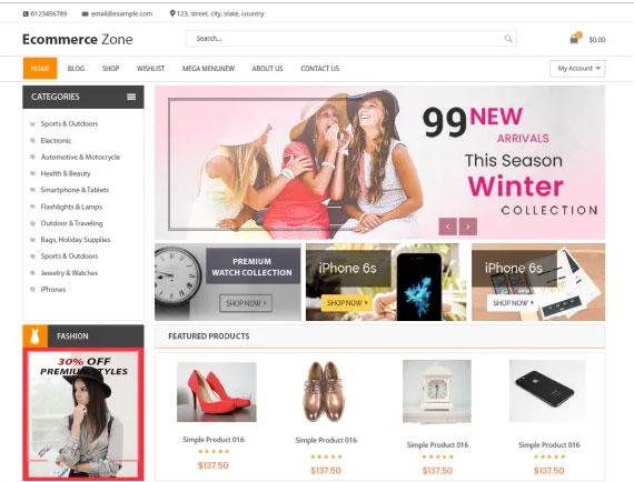 Ecommerce Zone Free WordPress Themes