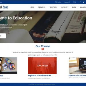 Online Educational Zone Free Themes
