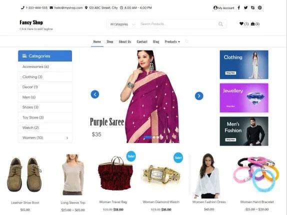 Fancy Shop is a Responsive Free WordPress Themes