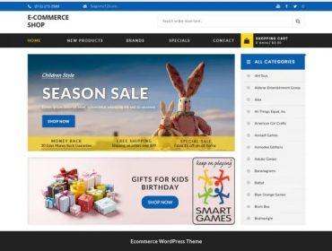 Free WordPress Theme E-commerce Shop