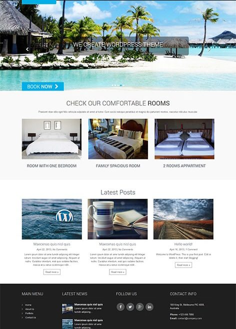 Hotel Lite Free WordPress Theme