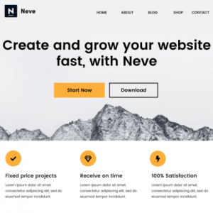 Best Neve Free WordPress Responsive Theme