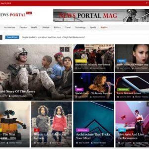 News Portal Mag is child theme of News Portal