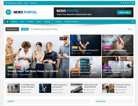 News Portal By Mystery Themes