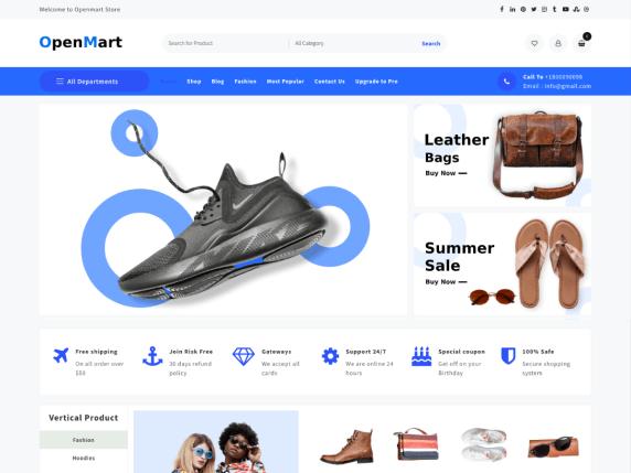 Open Mart eCommerce WordPress theme