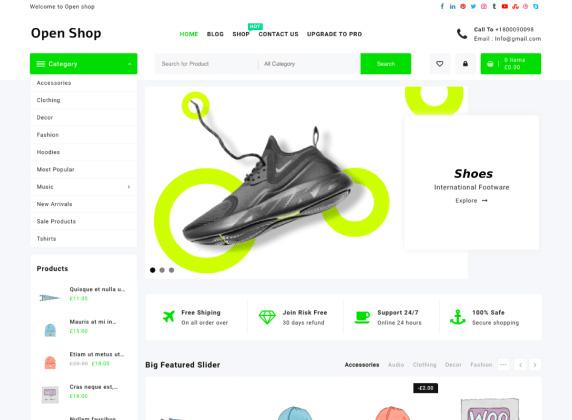 Open Shop Responsive Shopping WordPress Theme