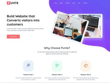 Punte is a perfect Free theme