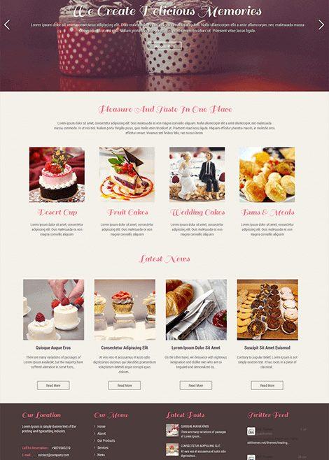 SKT Bakery Lite Free WordPress Theme