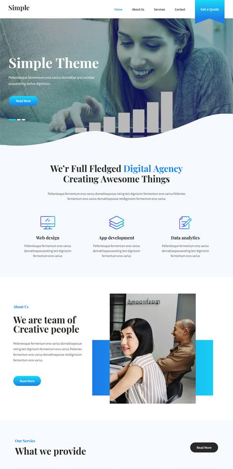 SKT Simple Free WordPress Theme