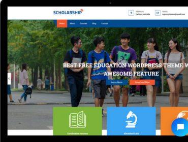 Scholarship Free WordPress Education Theme