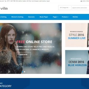 StoreVilla Free Responsive eCommerce WordPress Theme