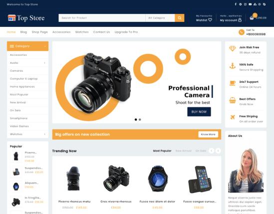 Top Store eCommerce WordPress theme