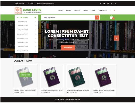 VW eBook store Free WordPress Theme