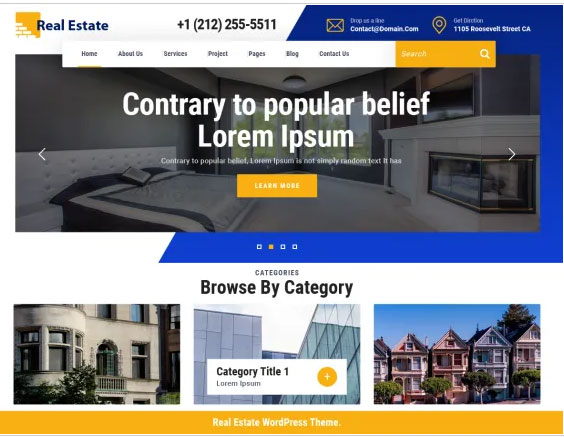 Free WordPress Themes to sell Real Estate Products