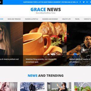 Grace News WordPress Theme Free ForNewspaper