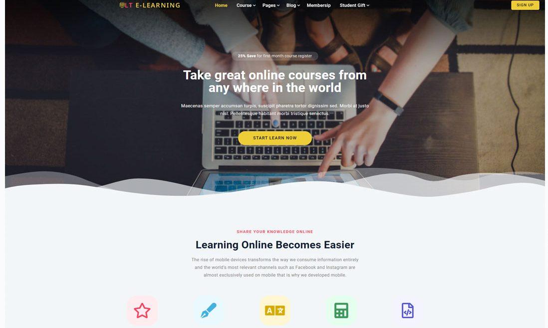 LT eLearning WordPress Education Theme