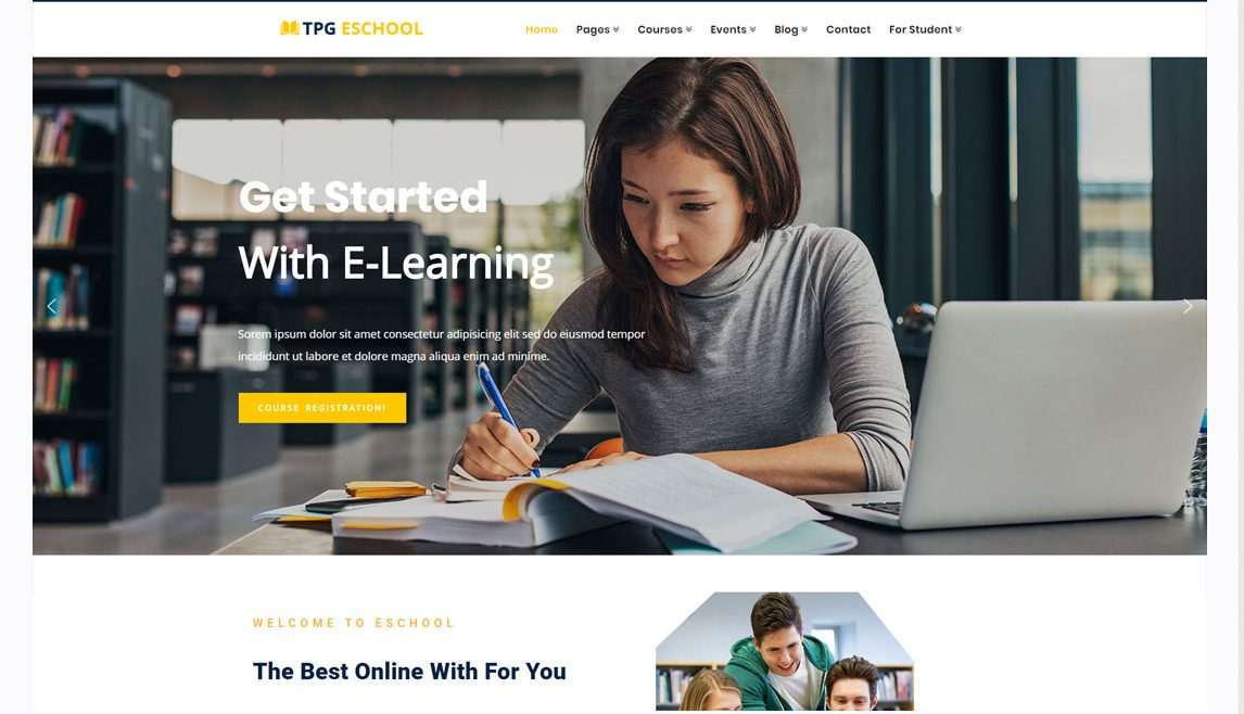 TPG eSchool WordPress theme